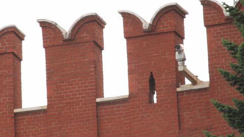 Kremlin Wall Merlons Stock Video Footage