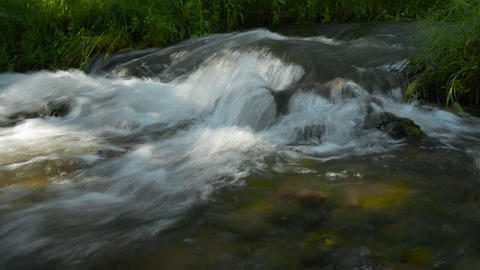 Waterfall, river, mountains, nature. (Time Lapse) Stock Video Footage