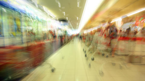 subjective shopping center time lapse Stock Video Footage