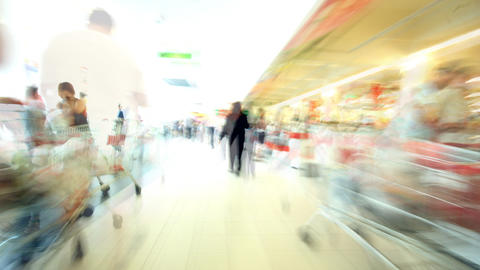 Subjective Shopping Center Time Lapse stock footage