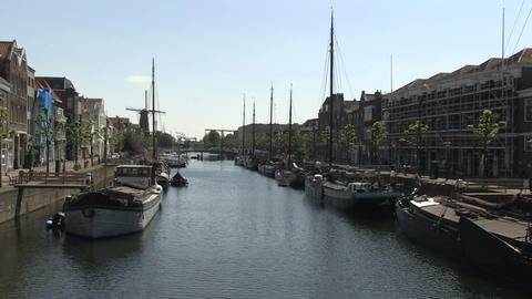 Delfshaven, Rotterdam Stock Video Footage