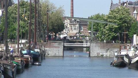 Delfshaven, Rotterdam Stock Video Footage