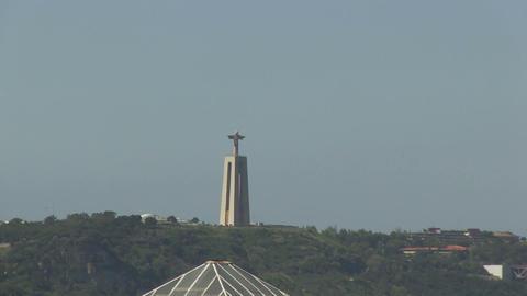 Cristo-Rei in Lisbon Stock Video Footage