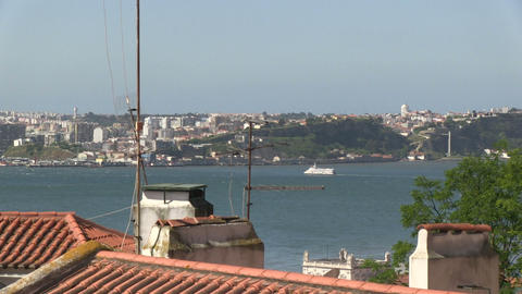 Tagus river, Lisbon Stock Video Footage
