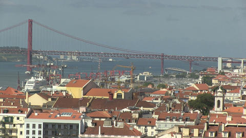 Downtown Lisbon Stock Video Footage