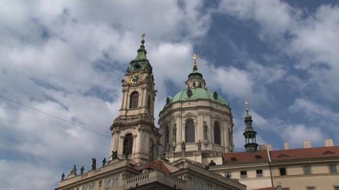 St nicholas church time lapse, Prague Stock Video Footage