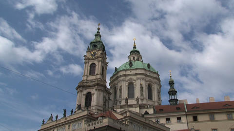St nicholas church time lapse, Prague Footage