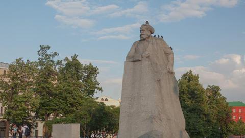 Kar Marx Monument hyperlapse Stock Video Footage