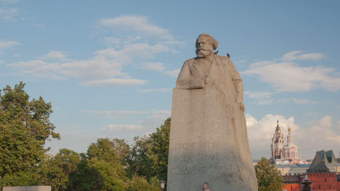 Kar Marx Monument hyperlapse Stock Video Footage