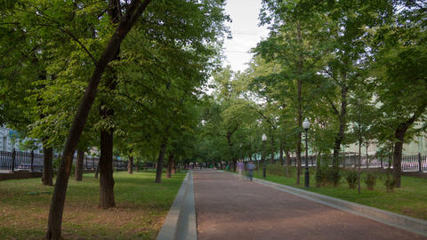 Walk on Pokrovka Boulevard Stock Video Footage