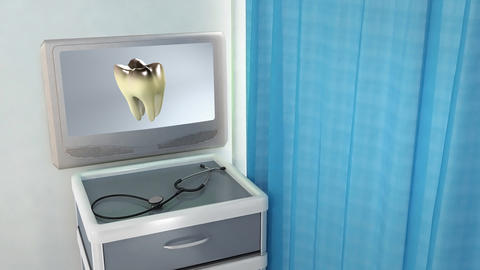 bad tooth medical screen Stock Video Footage