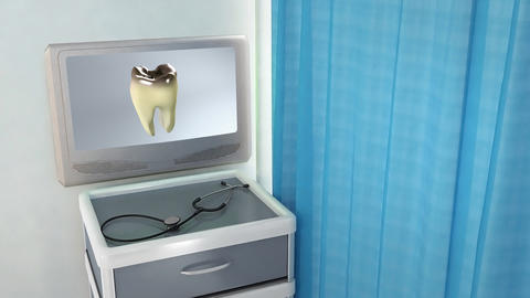 Bad Tooth Medical Screen stock footage