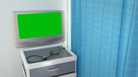 Blank Medical Screen stock footage