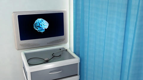 Brain Rotate Medical Screen stock footage