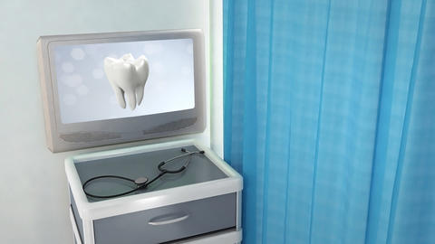 health tooth flare medical screen Stock Video Footage