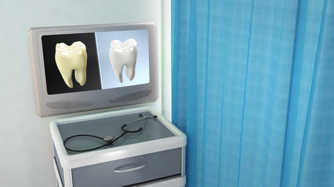 Tooth Contrast Medical Screen stock footage