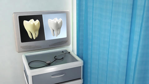tooth contrast medical screen Stock Video Footage