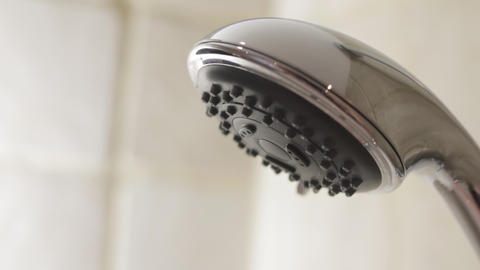 Shower Head close up Stock Video Footage