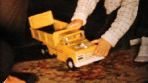Little Boy Gets Dump Truck For Christmas 1962 Footage