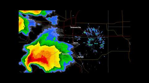 1999 Moore - Bridge Creek, Oklahoma Tornado Dopple Stock Video Footage