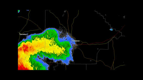 2011 Tuscaloosa, Alabama Tornado Doppler Radar Stock Video Footage