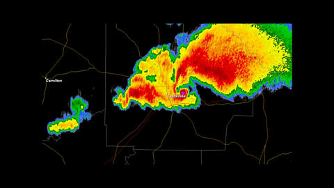 2011 Tuscaloosa, Alabama Tornado Doppler Radar Stock Video Footage