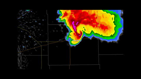 2013 Moore, Oklahoma Tornado Doppler Radar stock footage