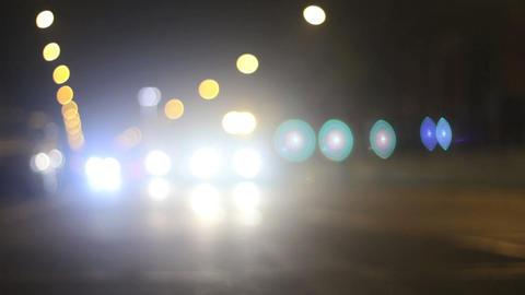 Traffic in night Stock Video Footage