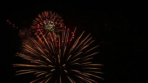 Artistic fireworks Stock Video Footage