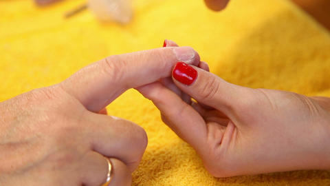 Manicure Stock Video Footage