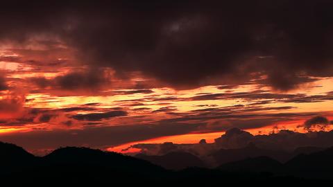Adam peak at sunset Stock Video Footage