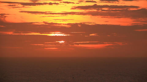 Boats Sunset Stock Video Footage