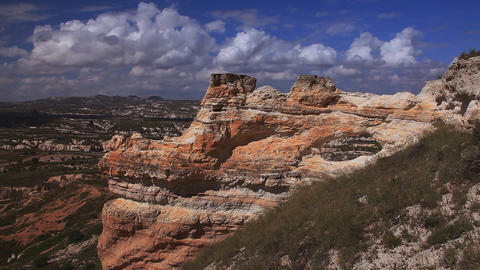 Picturesque rocks in Cappadocia Stock Video Footage