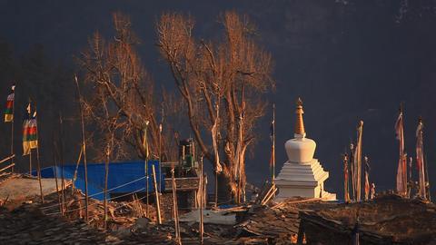 Flags Stupa Footage