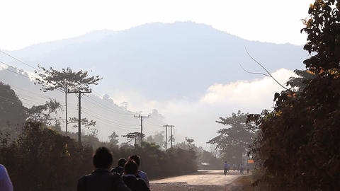 Laos Road Stock Video Footage