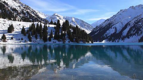 Winter Lake Stock Video Footage