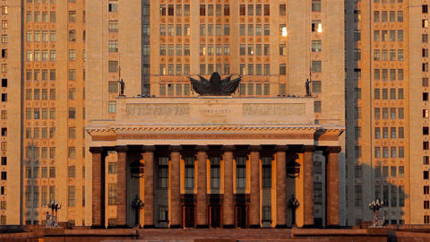 Moscow State University tilt Stock Video Footage