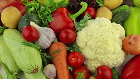 Different vegetables Stock Video Footage