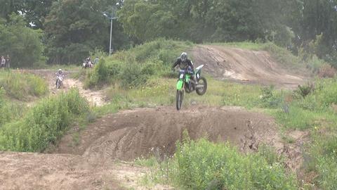Motocross jump rider Footage