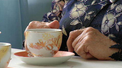 Hands Of An Elderly Woman stock footage