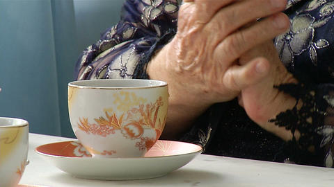 Hands of an elderly woman Stock Video Footage
