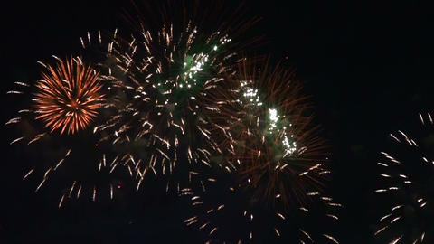 Fireworks in the night sky Stock Video Footage