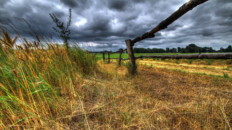 Time Lapse Rural Landscape. HDR Footage