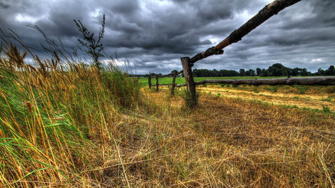 Time Lapse Rural Landscape. HDR Stock Video Footage
