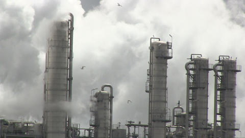 Smoke from industry Stock Video Footage