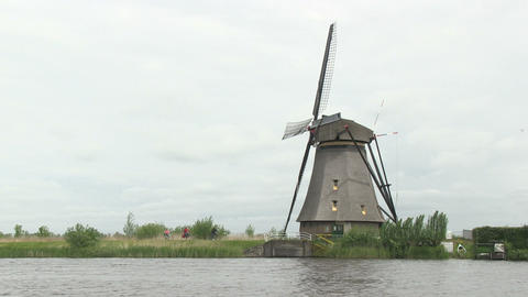 Dutch Windmill stock footage