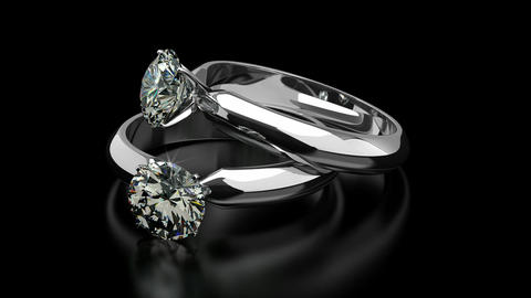 Diamond Rings Stock Video Footage