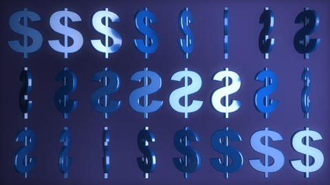 Dollar signs Stock Video Footage