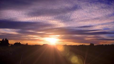 Australia sunset time laspe Stock Video Footage