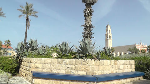 View of historic part of Jaffa,Tel Aviv,Israel Stock Video Footage